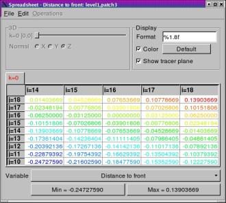 spreadsheet window