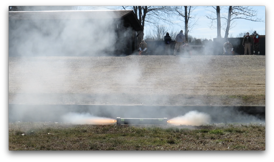 SHOT Hot gases venting from the detonation of 25 grams of C-4 explosive next to Proteos samples, while contained inside a 4-inch, capped, heavy-wall pipe.